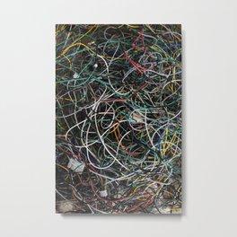 Wires.  Metal Print