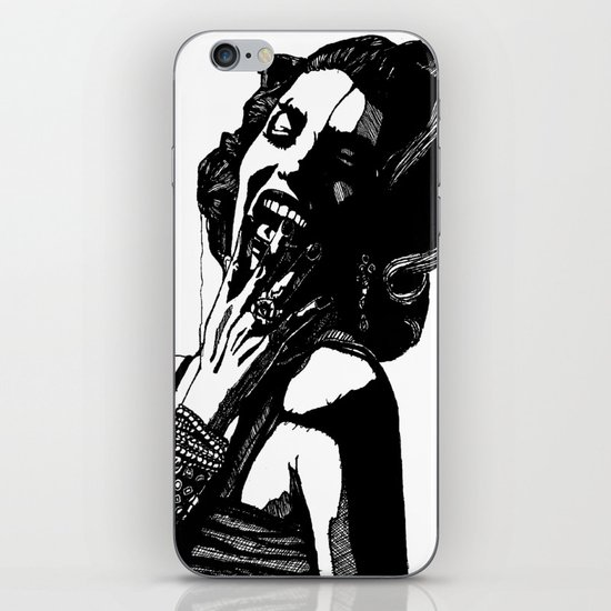 B&W Fashion Illustration - Part 2 iPhone & iPod Skin