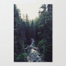 Oregon x Rainier Creek Canvas Print