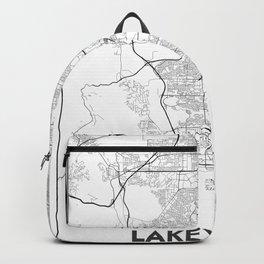 Minimal City Maps - Map Of Lakewood, Colorado, United States Backpack
