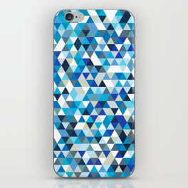 Icy triangles iPhone Skin