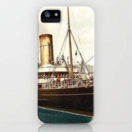 Vintage Ocean Liner iPhone Case