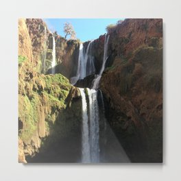 Ouzoud Waterfall Metal Print