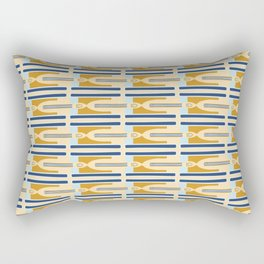 Memphis Style Geometric Stripes Seamless Vector Pattern Rectangular Pillow