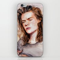 coconutwishes iPhone & iPod Skins featuring Harry watercolors III by Coconut Wishes