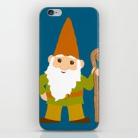 gnome iPhone & iPod Skins featuring gnome sweet gnome by Elephant Trunk Studio