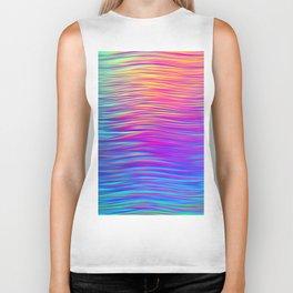 Colorful waves Biker Tank