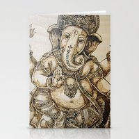 ganesh Stationery Cards featuring Ganesh by artbyolev