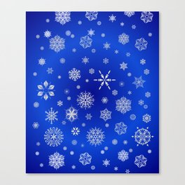 Snow in the Winter Night Canvas Print