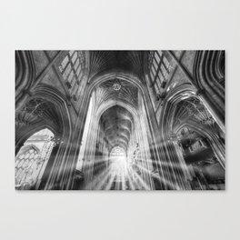 Bath Abbey Sun Rays Canvas Print