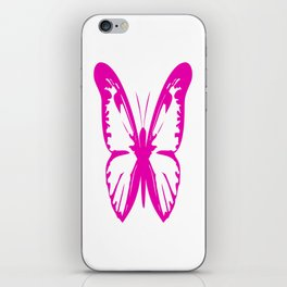 Hot Pink Butterfly  iPhone Skin