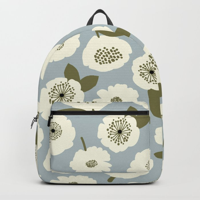 Floating Flowers Grey Backpack