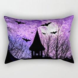 Bats in a full moon night Rectangular Pillow
