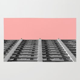 The sky was pink Rug