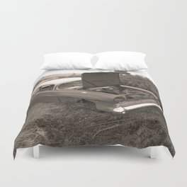 1957 Vauxhall Victor - dead cars series 102 Duvet Cover