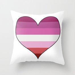 Lesbian Heart Throw Pillow