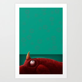 Red Creature Art Print