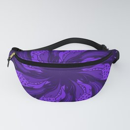 Purple Flower Tile Fanny Pack