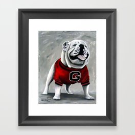 UGA Georgia Bulldogs Mascot Framed Art Print