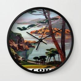 Vintage poster - La Corse, France Wall Clock