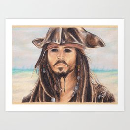 Jack Sparrow Portrait // Fauve B Creations Art Print