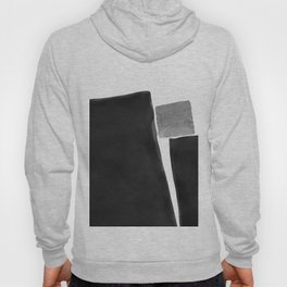 Minimal Black and White Abstract 04 Hoody