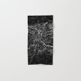 Krakow Black Map Hand & Bath Towel