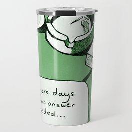 No Answer Needed | Drawing | Green Travel Mug