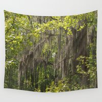 moss Wall Tapestries featuring Moss Canopy by Kaitlynn Lewis