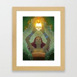 Crown of Fire Framed Art Print