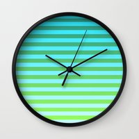 gradient Wall Clocks featuring Gradient by PYRAMIDS.