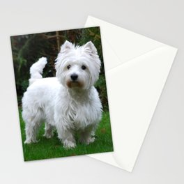 Westie in the garden Stationery Cards