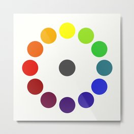 Bonnie E. Snow's and Hugo B. Froehlich's Larger Chromatic Circle (remake & interpretation) 1918 Metal Print
