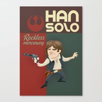 han solo Canvas Prints featuring Han Solo by Alex Santaló