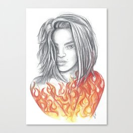 Burn Canvas Print