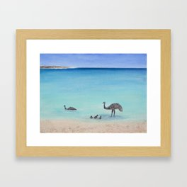 Surfin' Bird Framed Art Print