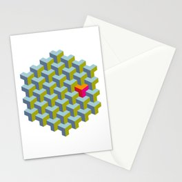 Be yourself - geomtric op art pattern Stationery Cards