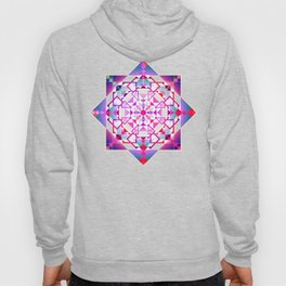 Purple, blue shapes and paterns Hoody
