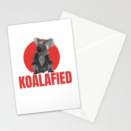 Highly Koalafied Ironworker design Funny product Stationery Cards
