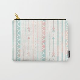 Geometrical blush blue coral pink bohemian arrows Carry-All Pouch