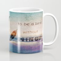 mandie manzano Mugs featuring Dreams Are Wings by Diogo Verissimo