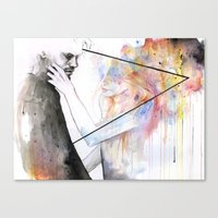 Canvas Prints featuring two different lights by agnes-cecile