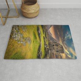 Dolbadarn Castle Snowdonia Wales Rug