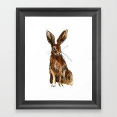 Alert Hare Framed Art Print