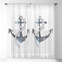 Ships Anchor Sheer Curtain