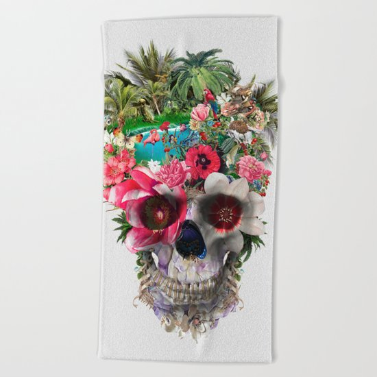 Summer Skull IV Beach Towel