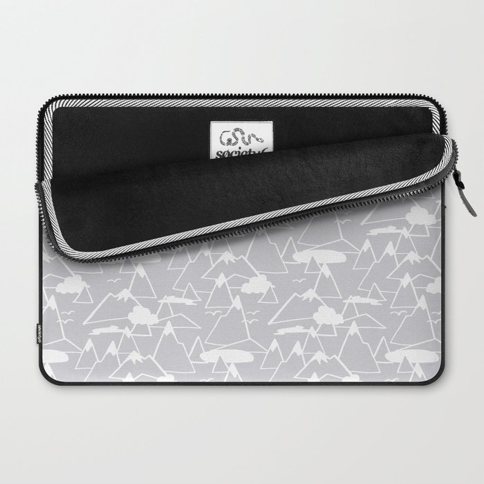 Mountain Scene in Grey Laptop Sleeve