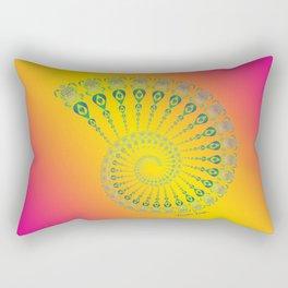 Spiral Tribal Turtle Shell Tropical Rectangular Pillow