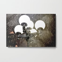 Union Square NYC rainy night. Metal Print