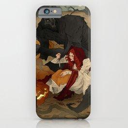Carving Jack-o-Lanterns iPhone Case